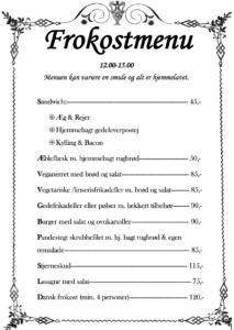 frokost menu
